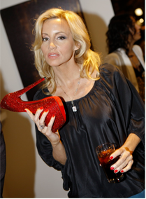 Camille Grammer Crystal Shoes